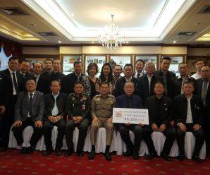 泰国统促会向泰国公安部门捐款赈济泰南水灾