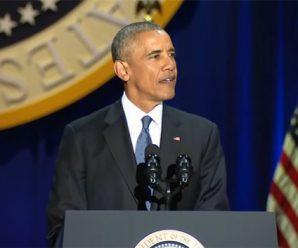 """奥巴马告别演讲:承诺给特朗普""""平稳过渡"""""""
