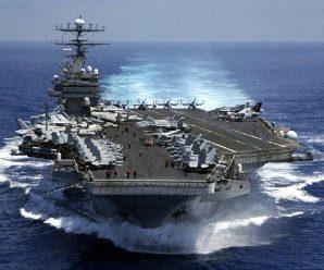 """美军邀菲防长参观航母 声称要保障""""航行自由"""""""
