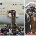 沙特国王历史性出访印尼 带459吨行李1500人随行