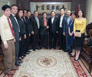 广东省纪委书记黄先耀率团访问泰国广东商会