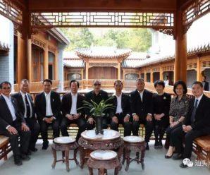 汕头市侨联主席谢惠蓉陪同回汕的泰国侨领参观耀明书院