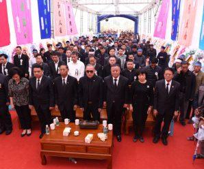 泰国统促会常务副会长谢崇通为其母黄桃妹老夫人举行葬礼