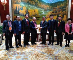 亚洲统促会代表团访问中国统促会 副会长陈竺接见