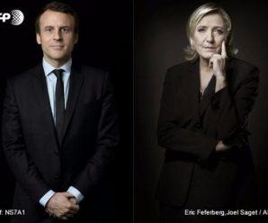 法国大选首轮投票结果公布 马克龙和勒庞将角逐总统