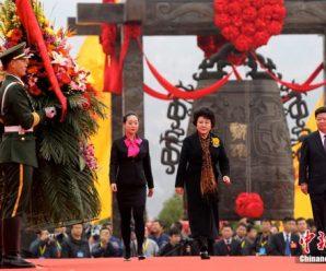 亚洲统促会首任领导参加2017丁酉年清明公祭轩辕黄帝典礼