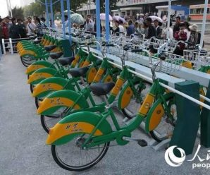 """朝鲜平壤推广有桩""""共享单车"""" 密码锁上有ABC"""