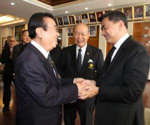 泰国前总理阿批实莅临泰国潮州会馆访问