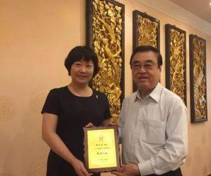 汕头市侨联主席谢惠蓉拜访泰国潮州会馆主席黄迨光先生