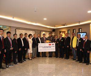 泰中深圳总商会为泰国东北部地区受灾群众捐款