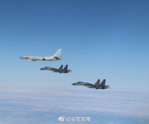 中国空军多型战机成体系绕岛巡航