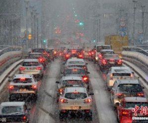 欧洲多国遭暴风雪袭击交通堵塞 机场数万旅客滞留