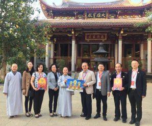 仙游县委统战陈朝霞部长陪同王志民会长前往参拜极乐寺