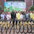 泰国统促会向泰国陆军 学校及社区捐赠自行车及安全帽
