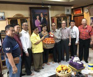 泰国王氏宗亲总会王义民理事长拜访王创业 王育文 王汉清三位副理事长