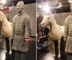 中国兵马俑在美展出拇指被盗 中方要求美方严惩肇事者
