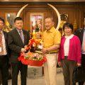 中国银行(泰国)行长李峰拜会泰国统促会王志民会长