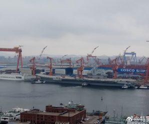 首艘国产航母有动作 或要入坞为海试做最终准备