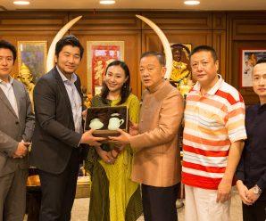 蓝地带集团叶子行董事长拜会泰国统促会王志民会长