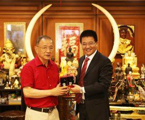 泰国统促会副会长许昭辉拜会王志民会长