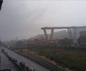意大利一高架桥或因暴风雨倒塌 已造成35人遇难