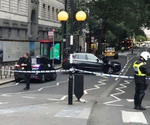 英议会大厦外汽车冲撞护栏:警方将其定性为恐袭