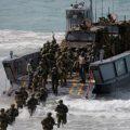 """""""五国联防""""成员国南海海域军演 澳大利亚出动陆海空三军"""