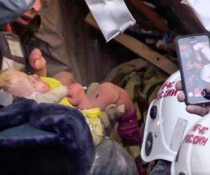 奇迹!俄居民楼爆炸35小时后 -17度废墟下救出一名男婴