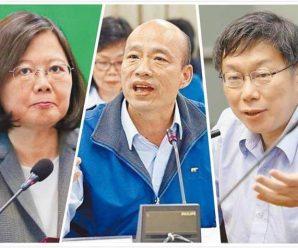 """台湾2020""""大选""""最新民调:蔡英文狂输韩国瑜"""
