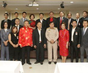 泰国统促会王志民会长及泰华侨团领导拜会曼谷市长阿萨维上将