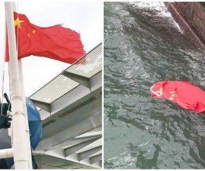 香港警方拘捕5名涉嫌疑人 疑与海港城侮辱国旗案有关