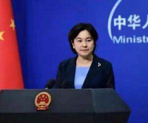 华春莹:中国政府即日起暂停审批美舰机赴港申请 同时制裁美非政府组织
