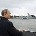 俄海军两大舰队会师黑海搞演习 普京乘导弹巡洋舰观摩