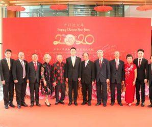 中国驻泰大使馆举行开门过大年活动 众侨领出席