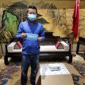 泰国统促会荣誉会长谢悦龙向泰国捐赠医用口罩