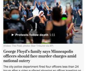 全美愤怒抗议警察暴力执法