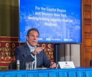 """纽约州州长:否认疫情等同于""""病毒帮凶"""""""