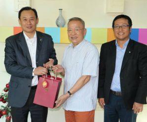 中国银行(泰国)董事长王宏伟拜会泰国统促会王志民会长