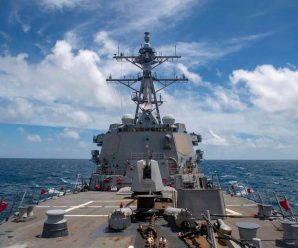 美舰穿航台湾海峡 东部战区:全程跟踪监视 正告美方停止滋事搅局