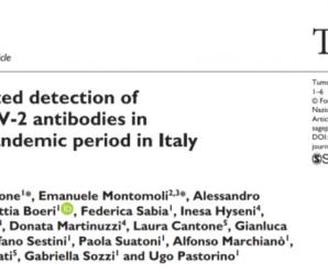 《肿瘤杂志》发表研究结果:意大利去年9月份可能就存在新冠病毒