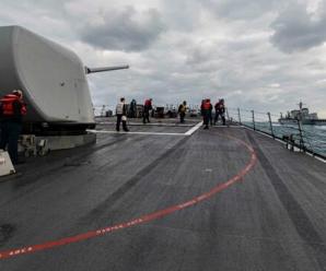 侵犯俄领海被俄军警告驱逐后 美军驱逐舰又在东海现身