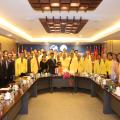 中国驻泰大使馆侨务参赞刘敬师阁下莅临泰国统促会